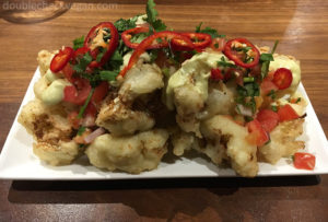 Cauliflower Nachos at Shuffle Bar at Whole Foods in Pasadena