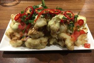 Cauliflower Nachos at Shuffle Bar at Whole Foods in Pasadena