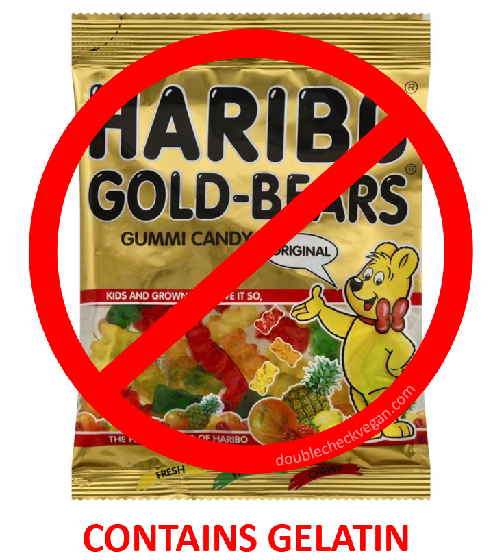 Haribo gummy bears are not vegetarian
