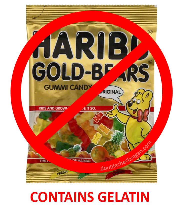 Haribo gummy bears are not vegetarian