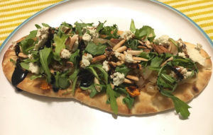 Sweet potato naan flatbread from Purple Carrot meal delivery