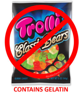 Trolli Classic Bears contain parts of slaughtered pigs.