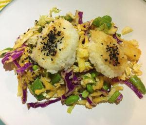 Yaki onigiri from Purple Carrot vegan meal delivery
