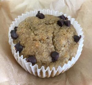 Vegan banana chocolate chip muffin at Jameson Brown in Pasadena - Best Vegan Food in Pasadena