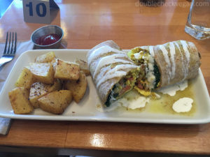 Vegan breakfast burrito at One Veg World in Pasadena