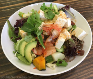 Vegan Raw Tofu Salad at Pencil Cafe in Pasadena