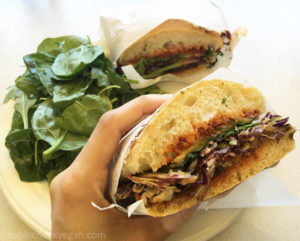 Vegan eggplant sandwich at Seed Bakery in Pasadena