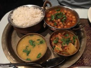 Some vegan dishes at Tibet Nepal House in Pasadena