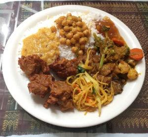 vegan buffet at tibet nepal house in pasadena