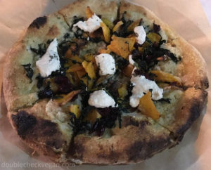 Butternut squash vegan pizza with almond ricotta at True Food Kitchen in Pasadena