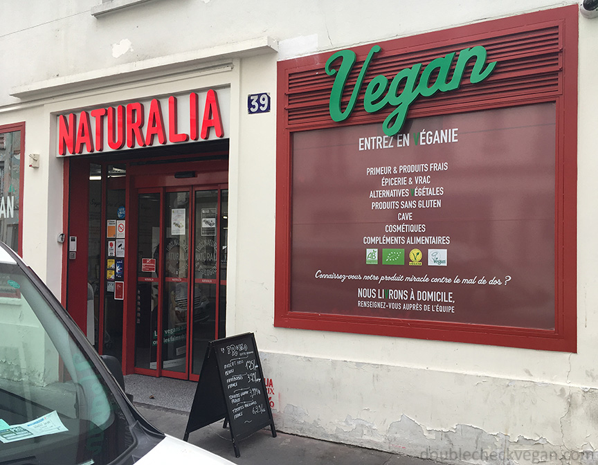 Naturalia Vegan branch in Paris.
