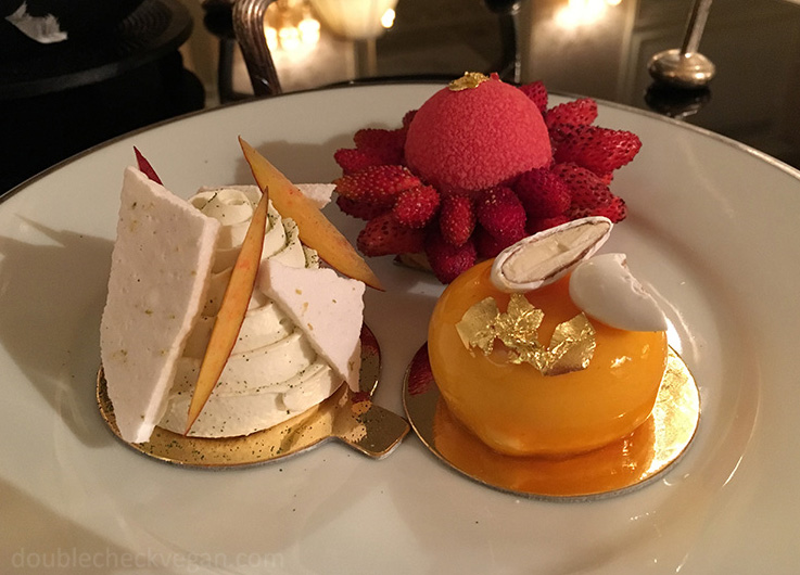 Vegan pastries at Shangri-La Hotel Paris - Vegan Afternoon Tea