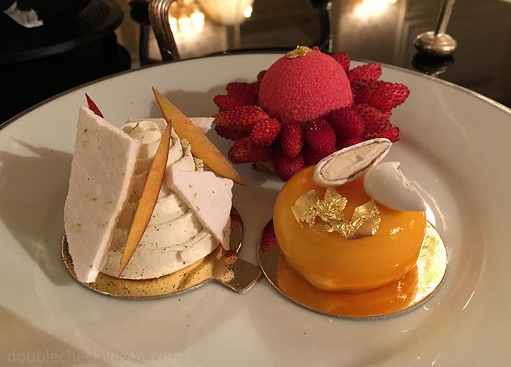 Vegan pastries at Shangri-La Hotel Paris - Vegan Afternoon Tea