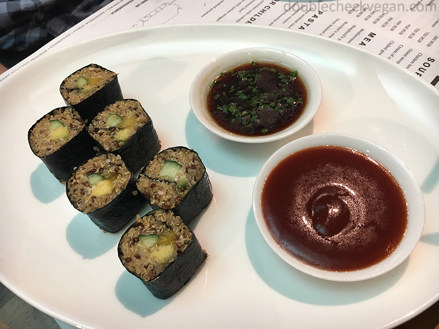 Vegan sushi at GARAGE Museum in Moscow.