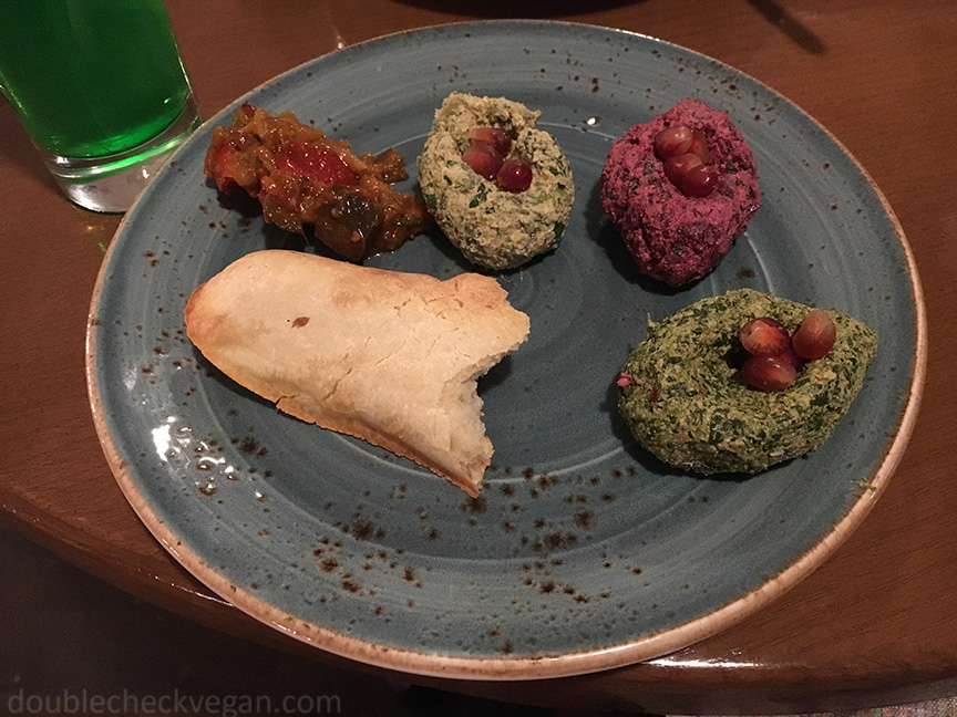 Vegan Georgian food at Cafe Batoni in Moscow.