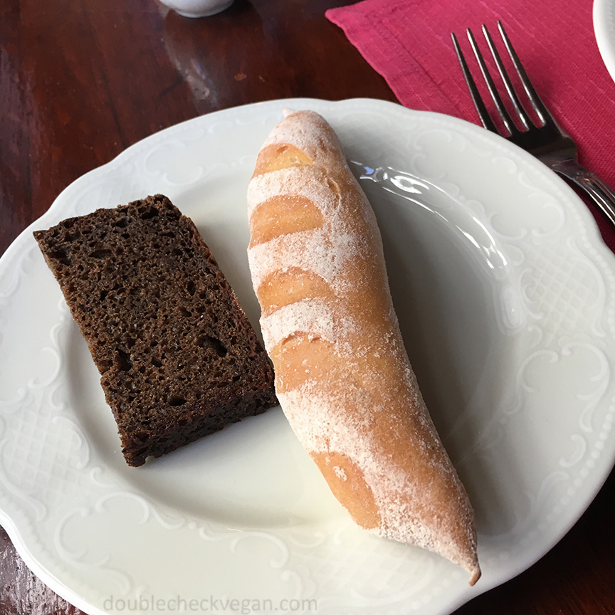 Vegan bread at Cafe Pushkin in Moscow.