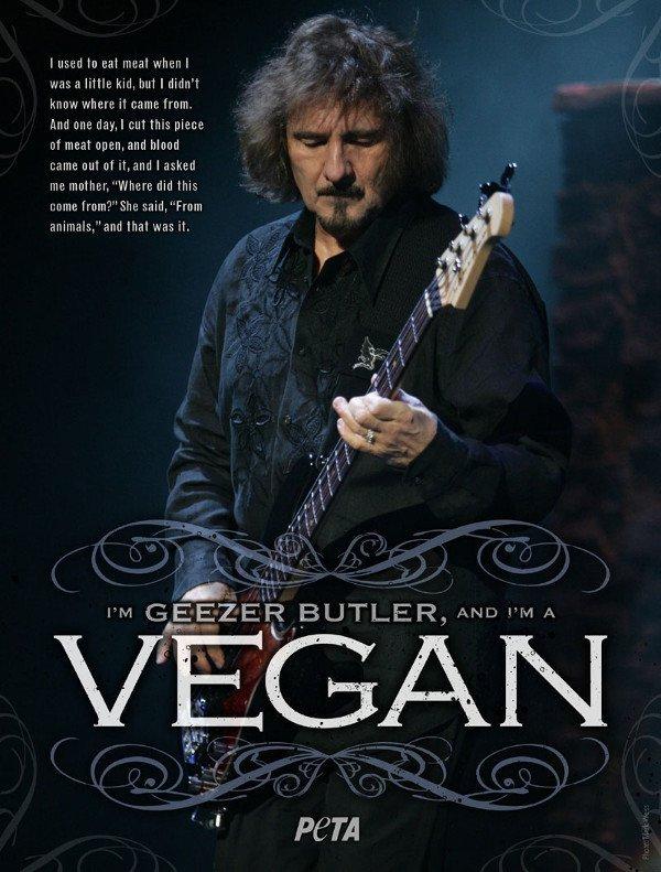 Geezer Butler PETA Ad (Black Sabbath Vegan)