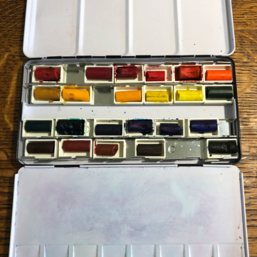 How to Make a Vegan Watercolor Pan Set with Daniel Smith Watercolor Sticks