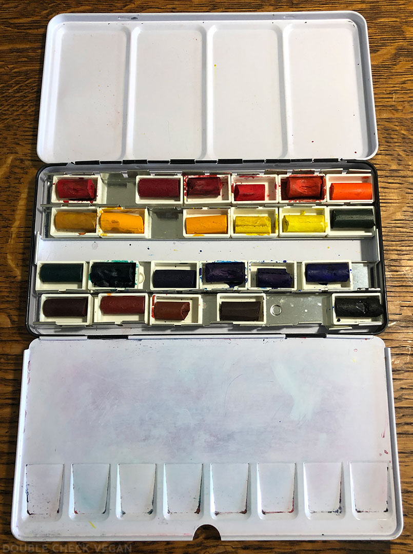 Daniel Smith vegan watercolor pans