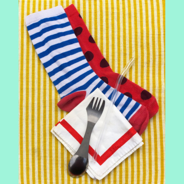 Plastic Free: Old Socks as a Travel Utensil Case