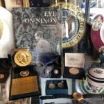 Nixon memorabilia display case at Olamendi's in Dana Point - old school Los Angeles restaurants