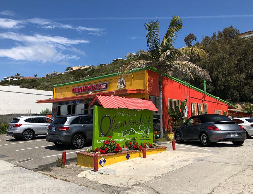 Olamendi's Dana Point vegan options - old school Los Angeles restaurants