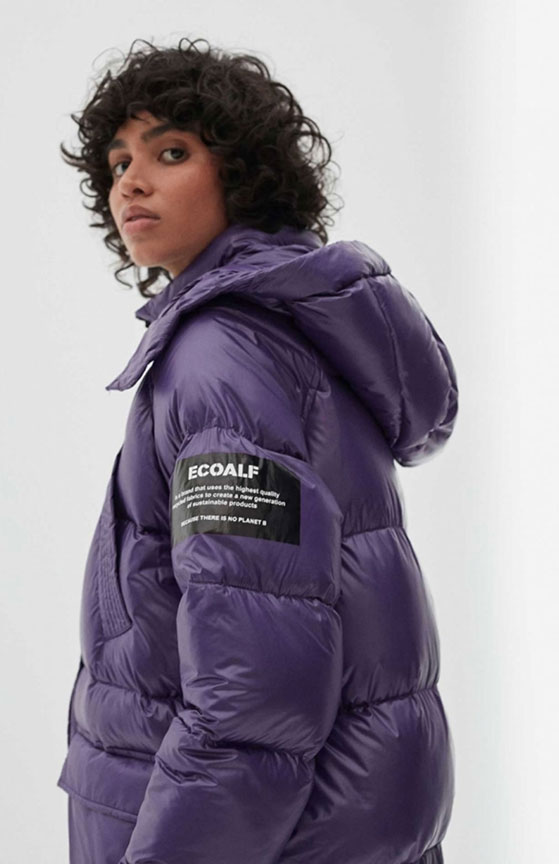 Vegan Winter Coats - EcoAlf - Purple Siberia Puffer