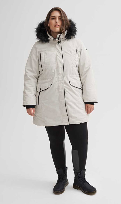 Plus Size Vegan Winter Coats - Noize - Nicole Heavyweight Bomber
