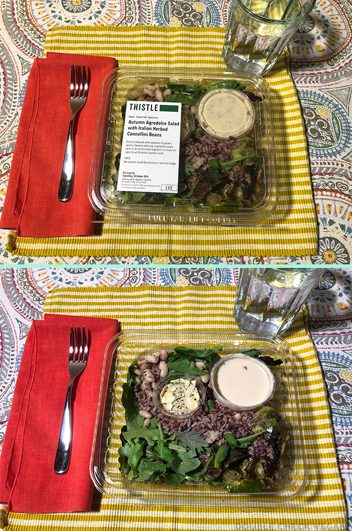 Thistle review vegan salad packaging